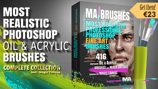 Photoshop Oil Brushes with Texture for Concept Art