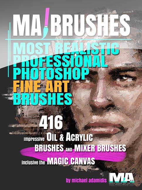 Photoshop Portrait Brushes with Oil Texture