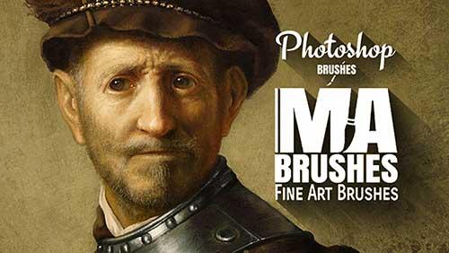 Photoshop Kunst Pinsel Malerei Öl set