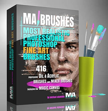 Best Photoshop Custom Brush Pack and Portraits Michael Adamidis