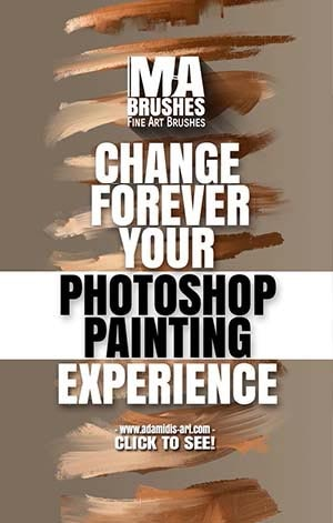 Photoshop Oil Brushes for digital oil painting with texture