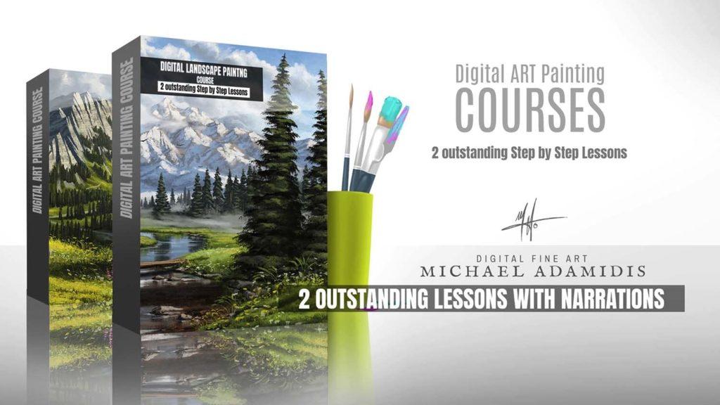 Digital Art Painting Course Tutorial how to paint Landscape Scernery Concept Art