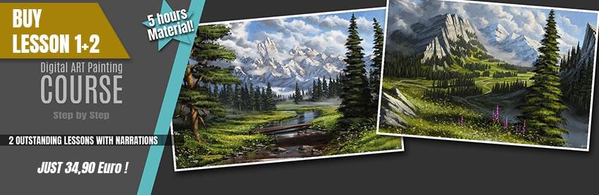 Digital_Painting_Tutorial_Paint_Like_Bob_ross_Landscapes_Michael_Adamidis