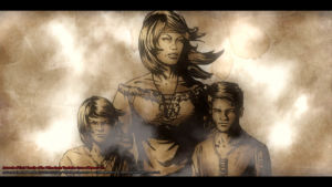 Chris and his Mother and Brother Concept Art by Michael Adamidis