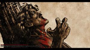 Father dead closeup Concept Art by Michael Adamidis