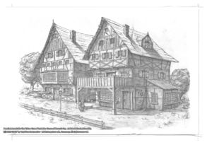 Old houses RC Village Pencil Concept by Michael Adamidis