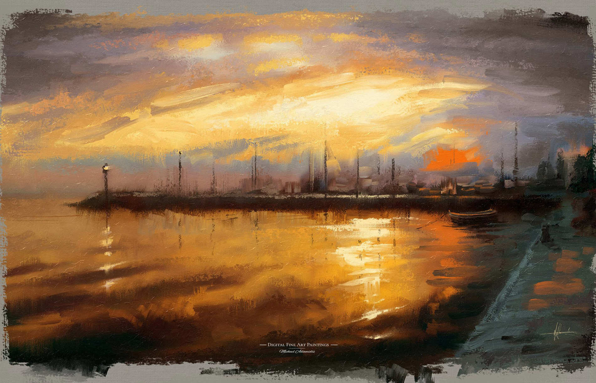 Digital Oil Paintings - Photoshop Painting Brushes with Oil