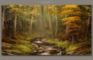 Autumn Lake by Michael Adamidis Digital Art Fine Art Oil MA-Brushes for Photoshop Landscape Scenery Wallpaper