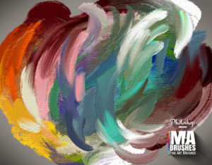Digital Art Brushes for Photoshop Oil Texture Brush Pack Concept Art