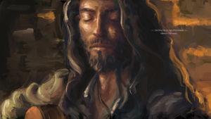 Estas Tonné by Michael Adamidis Digital Oil Portrait Painting