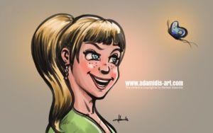 Portrait Comic by Michael Adamidis