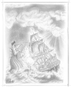 Pencil Artwork Pirates v6i by Michael Adamidis