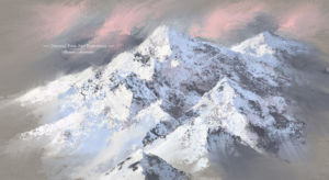 Photoshop Brushes Oil texture Painting brush pack acrylic mountains landscape painting a2e