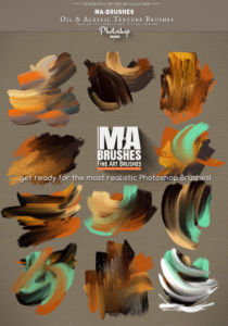 Photoshop Brushes  Oil Texture Brush Pack realistic Brushes real