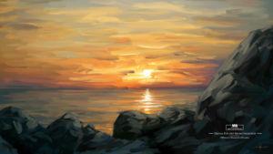 Photoshop Concept Art Brushes Artwork Melting Heart by Michael Adamidis Digital Oil Painting Wallpaper Sea