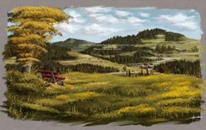 Gumroad Michael Adamidis Brushes Download Oil texture brush pack acrylic mountains landscape painting Enzkloesterle Michael Adamidis