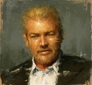 Portrait Painting Michael Adamidis Art Digital Oil MA Brushes q2 Procreate