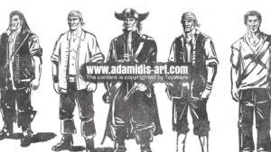 Sketch Pirates Concept Art by Michael Adamidis